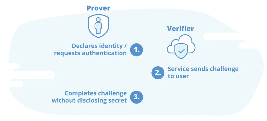 Verification process with zero-knowledge authentication